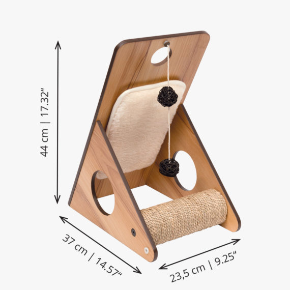 Vesper Play center – Walnut measurements