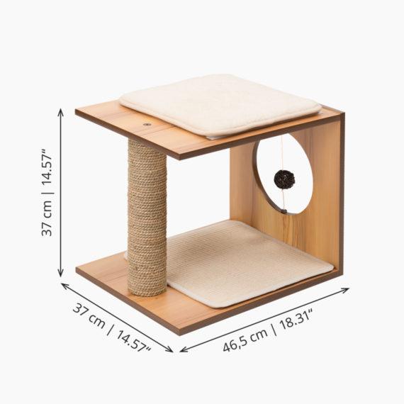 Vesper Stool – Walnut measurements