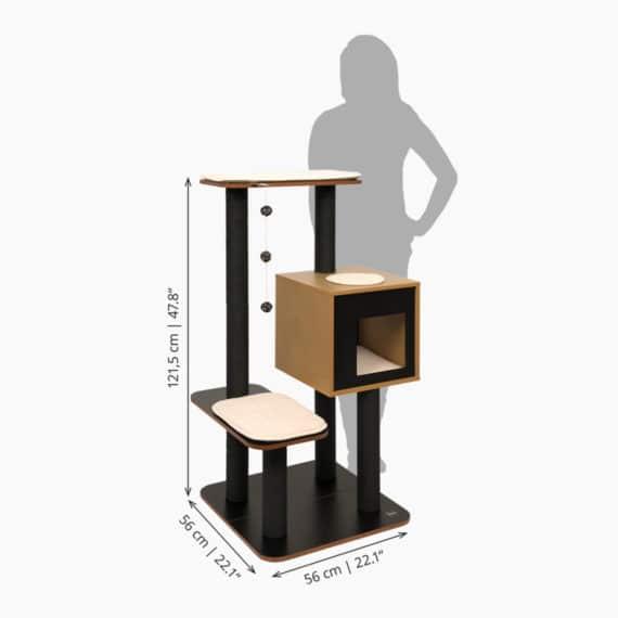 Vesper High Base – Black measurements