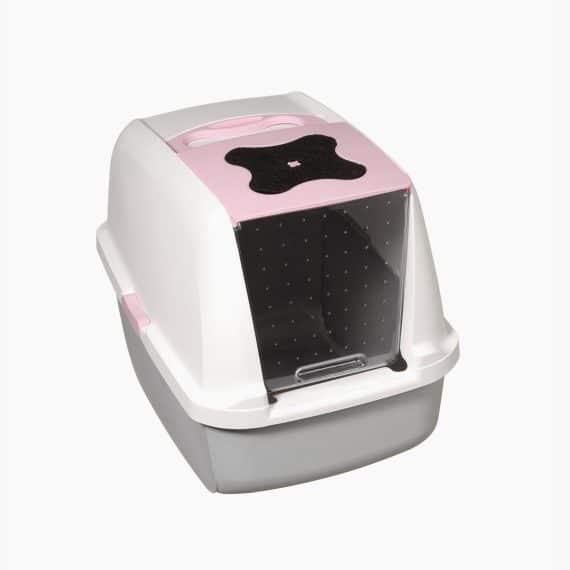 50700 Katzentoilette mit Dach pink