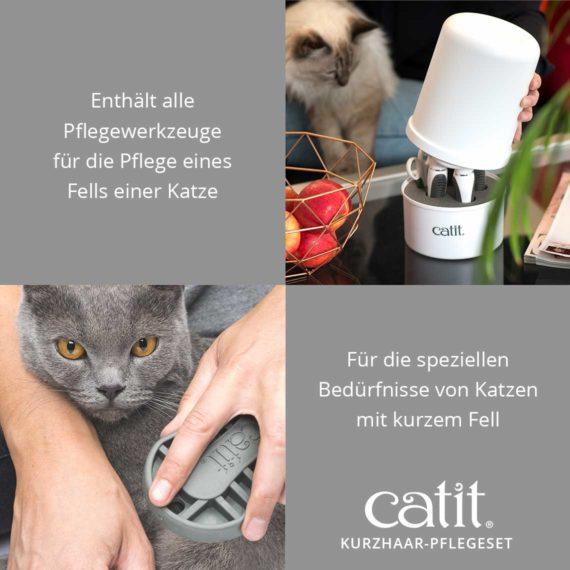 Catit Kurzhaar-Pflegeset - Enthält alle Pflegewerkzeuge für die Pflege eines Fells einer Katze und für die speziellen Bedürfnisse von Katzen mit kurzem Fell