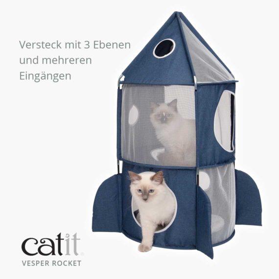 Catit Vesper Rocket - Versteck mit 3 Ebenen und mehreren Eingängen