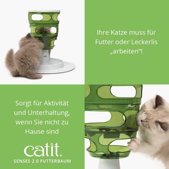 """Catit Senses 2.0 Futterbaum - Ihre Katze muss für Futter oder Leckerlis """"arbeiten""""! Sorgt für Aktivität und Unterhaltung, wenn Sie nicht zu Hause sind"""