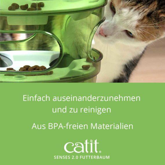 Catit Senses 2.0 Futterbaum - Einfach auseinanderzunehmen und zu reinigen und aus BPA-freien Materialien