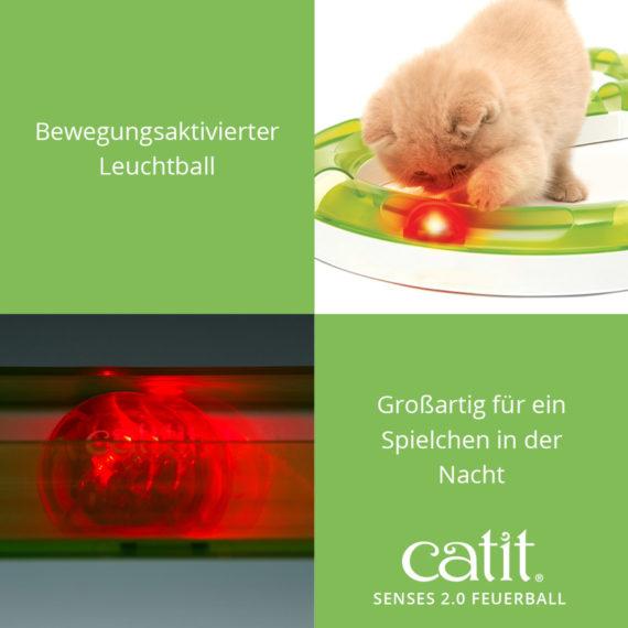 Catit Sense 2.0 Feuerball – Bewegungsaktivierter Leuchtball und großartig für ein Spielchen in der Nacht