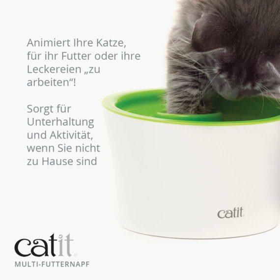 """Catit Multi-Futternapf - Animiert Ihre Katze, für ihr Futter oder ihre Leckereien """"zu arbeiten""""! Sorgt für Unterhaltung und Aktivität, wenn Sie nicht zu Hause sind"""
