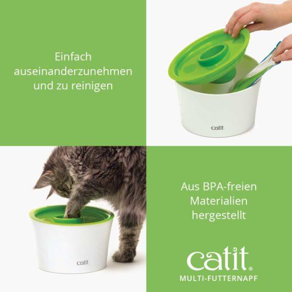 Catit Multi-Futternapf - Einfach auseinanderzunehmen und zu reinigen. Aus BPA-freien Materialien hergestellt