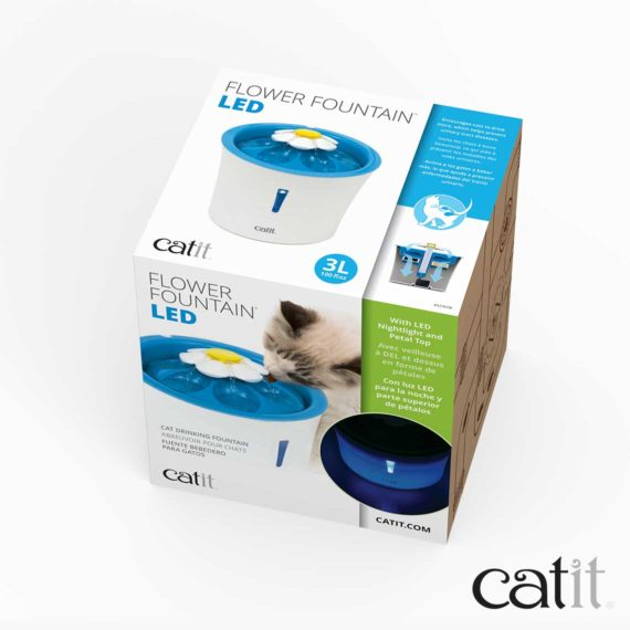 Catit LED Flower Fountain packaging