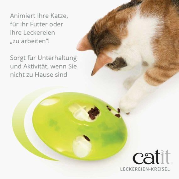 """Catit Leckereien-Kreisel - Animiert Ihre Katze, für ihr Futter oder ihre Leckereien """"zu arbeiten""""! Sorgt für Unterhaltung und Aktivität, wenn Sie nicht zu Hause sind"""