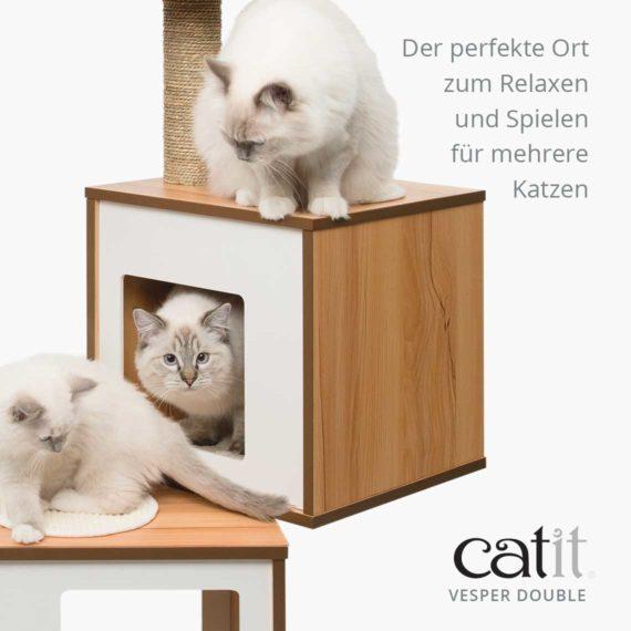 Catit Vesper Double - Der perfekte Ort zum Relaxen und Spielen für mehrere Katzen