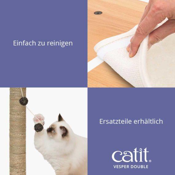Catit Vesper Double - Einfach zu reinigen und Ersatzteile erhältlich