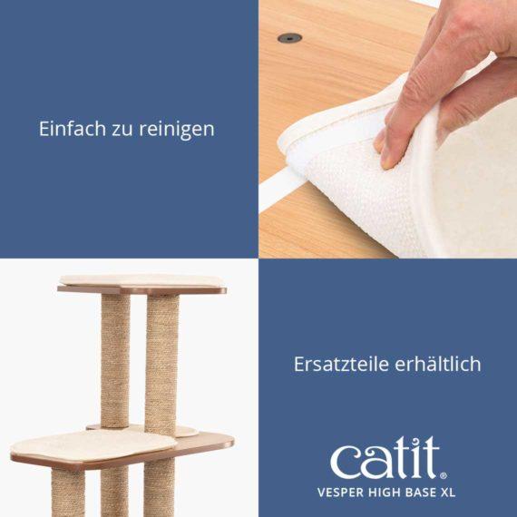 Catit Vesper High Base XL - Einfach zu reinigen und Ersatzteile erhältlich