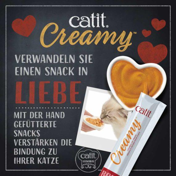 Catit Creamy - Verwandeln Sie einen Snack in Liebe! Mit der Hand gefütterte Snack verstärken die Bindung zu ihrer Katze