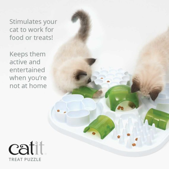 Catit Treat Puzzle stimulates your cat to work for food or treats and keeps them active and entertained when you're not at home