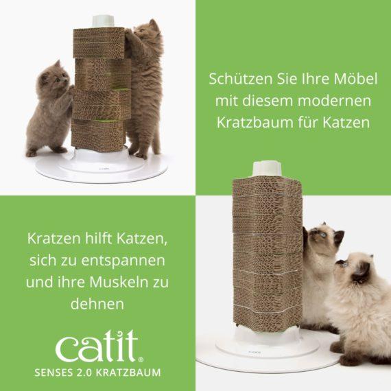 Catit Senses 2.0 Kratzbaum - Schützen Sie Ihre Möbel mit diesem modernen Kratzbaum für Katzen. Kratzen hilft Katzen, sich zu entspannen und ihre Muskeln zu dehnen
