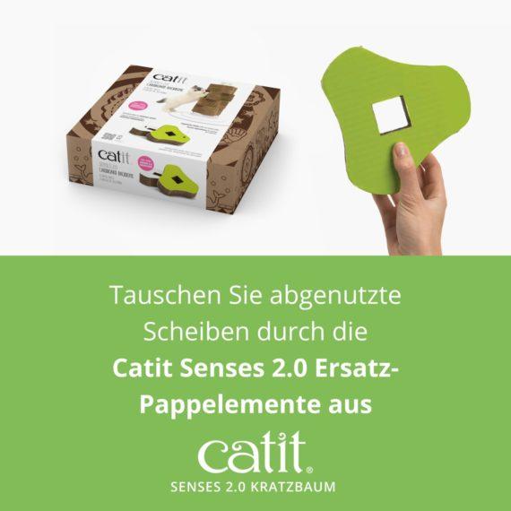 Catit Senses 2.0 Kratzbaum – Tauschen Sie abgenutzte Scheiben durch die Catit Senses 2.0 Ersatz-Pappelemente aus