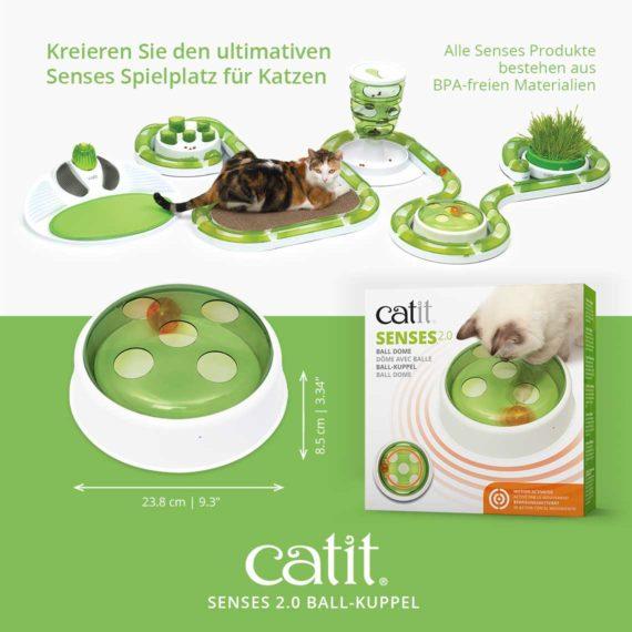 Senes 2.0 Ball-Kuppel - Kreieren Sie den ultimativen Senses Spielplatz für Katzen - Alle Senses Produkte bestehen aus BPA-freien Materialien