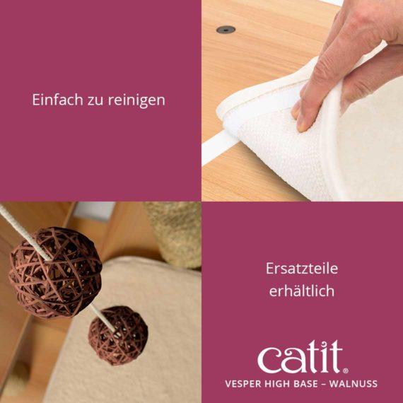 Catit Vesper High Base - Einfach zu reinigen. Ersatzteile erhältlich