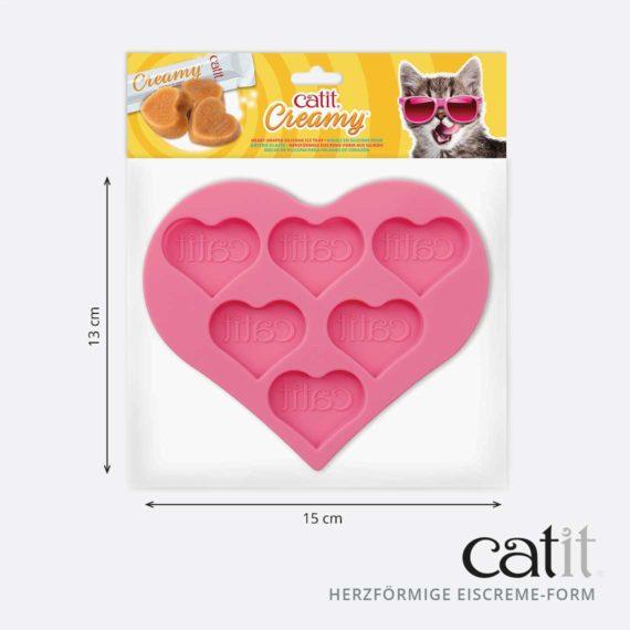 43860 - Herzförmige Eiscreme-Form aus Silikon - product panel 4