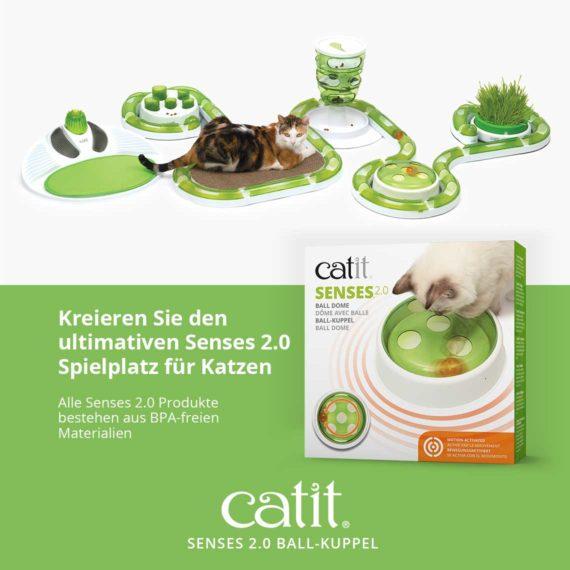 Kreieren Sie den ultimativen Senses 2.0 Spielplatz für Katzen - Alle Senses 2.0 Produkte bestehen aus BPA-freien Materialien