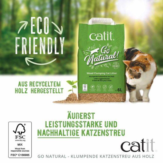 Eco Friendly - Aus recyceltem holz hergestellt -äusserst leistungsstarke und nachhaltige katzenstreu
