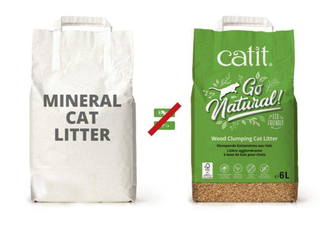Im Gegensatz zu vielen mineralischen Katzenstreusorten wird unsere Streu nachhaltig produziert und verpackt und wurde genau richtig zusammengesetzt, damit sie allmählich verklumpt und sich einfach Ausschaufeln lässt