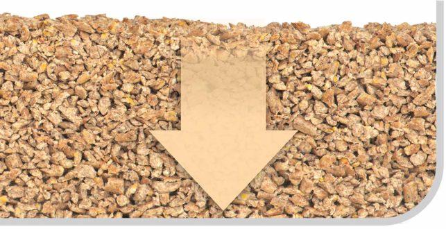 Catit Go Natural!™ Katzenstreu aus Holz wird während des Herstellungsprozesses zweimal gesiebt, um sicherzustellen, dass eine geringfügige Menge an Staub übrig bleibt