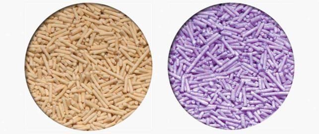 Pea Husk clumping litter - 2 farben