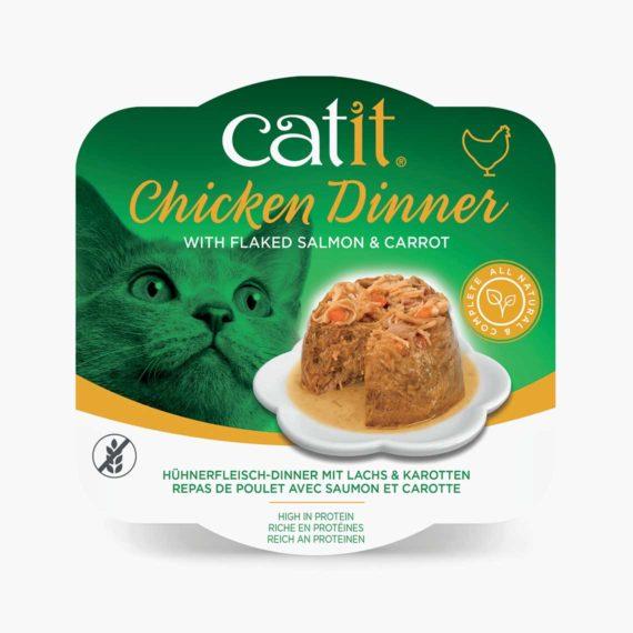 44702 - Catit Hühnerfleisch-Dinner - Lachs & Karotten