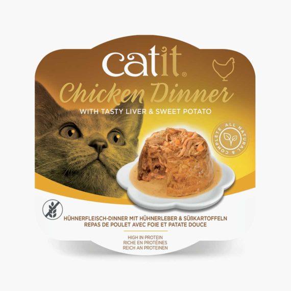 44705 - Catit Hühnerfleisch-Dinner - Hühnerleber & Süßkartoffeln