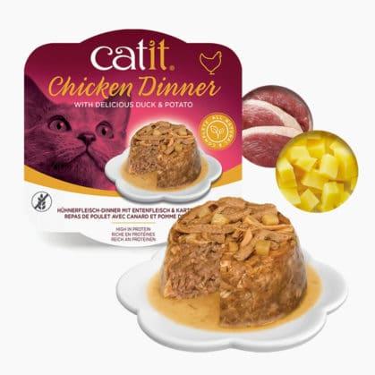 Catit Hühnerfleisch-Dinner - Zusammensetzung - Entenfleisch & Kartoffeln