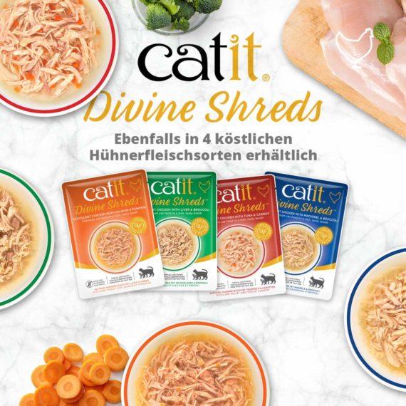Catit Divine Shreds Tuhnfisch - Ebenfalls in 4 köstlichen Hühnerfleischsorten erhältlich