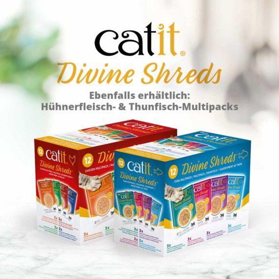 Catit Divine Shreds Tuhnfisch - Ebenfalls erhältlich: Hühnerfleisch- & Thunfisch-Multipacks