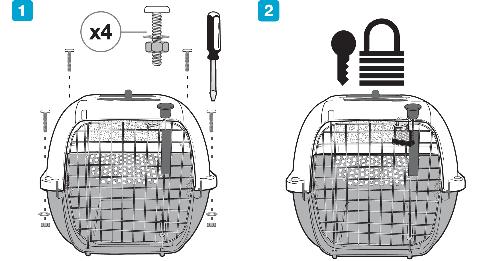 Catit Cat Carrier Permanent Assembly Instructions